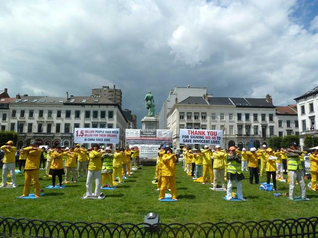 Belgium: Six MEPs Lend Support at Falun Gong Rally Outside European